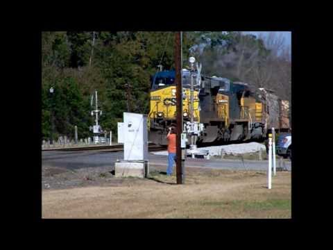 A CSX Grain Train Passes Through Folkston, GA 2/3/14