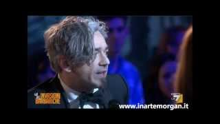 "Morgan omaggia Lucio Dalla a ""Le invasioni barbariche"" (La7) (02/03/2012)"