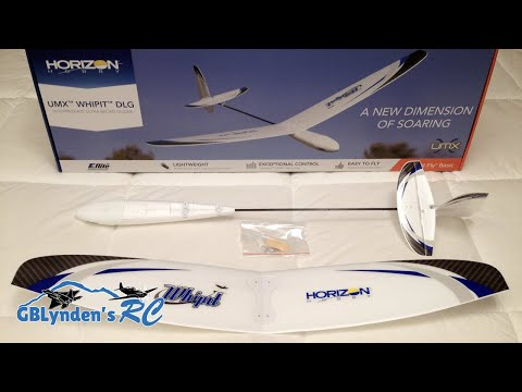 E-flite UMX Whipit DLG RC Glider BNF Basic Unboxing. Review. and Maiden Flight