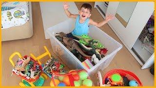 Oyuncaklarımızı Düzenledik, Büyük Oyuncaklar Büyük Kutuya Küçükler Küçük Kutuya | Çocuk Videosu