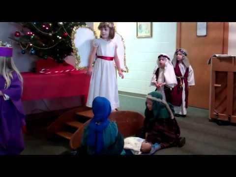 Manger Scene Noahs Ark Preschool Dec 2011