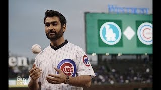 Kumail Nanjiani Threw the First Pitch at a Cubs Game