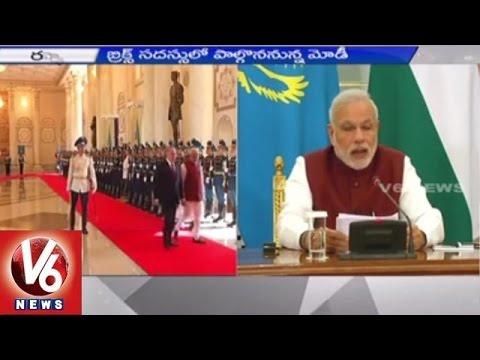 Modi Central Asia Tour | PM Modi arrives Russia | BRICS Summit  (08-07-2015)
