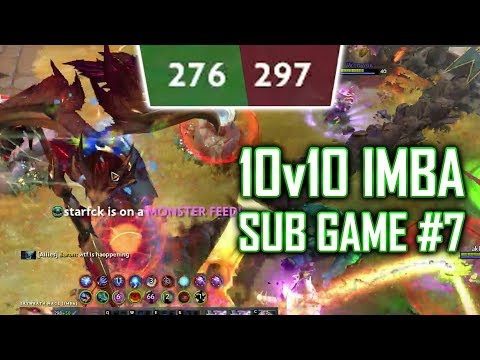 Dota 2 IMBA: 10v10 Sub Game #7 - SingSing Dota 2 Highlights