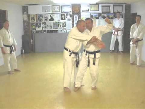 Tom Hill's Karate Dojo; Sepai (Seipai) Goju Kata Bunkai; Grappling techniques, Head Mare & throw Image 1