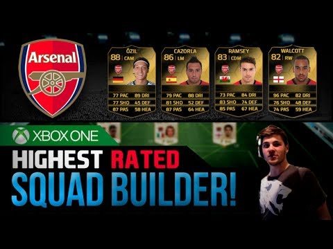 FIFA 14 Ultimate Team | HIGHEST RATED ARSENAL SQUAD! feat. IF Ozil!