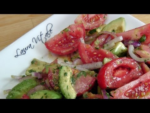Tomato and Avocado Salad - Recipe by Laura Vitale - Laura in the Kitchen Ep 188