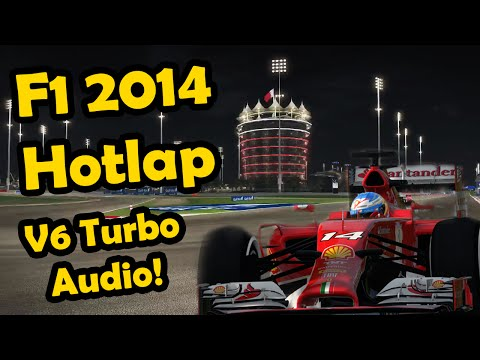 F1 2014 Game: Bahrain Night Hotlap Analysis - V6 Turbo Audio! (F1 2014 Gameplay)