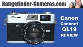 Canon Canonet QL19 New 1971 rangefinder 35mm film camera.wmv