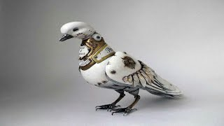 Russian Artist Forms Steampunk Animals Using Old Car Parts, Watches And Electronics