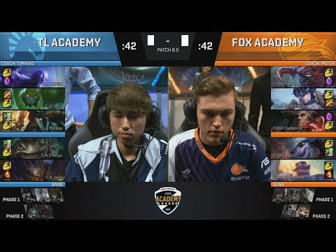 TLA (Mickey Ryze) VS FOXA (Allorim Chogath) Game 2 Highlights - 2018 NA Academy Spring Semifinals