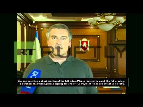 Ukraine: Armed Forces are declaring allegiance en masse- Crimean PM Aksyonov