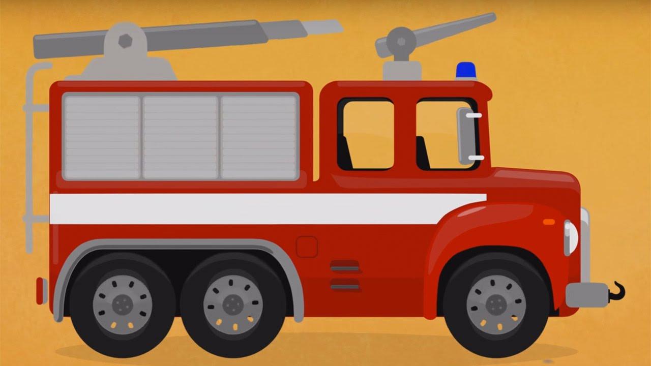 Мультики пожарная машина раскраска 154