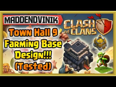Clash of Clans - NEW Farming Base Design for Town Hall 9! (Tested & Approved)