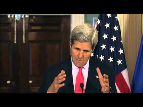 Kerry EU Commissioner Meet on Ukraine, Nigeria