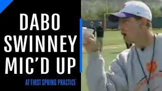 Clemson Coach Dabo Swinney Mic