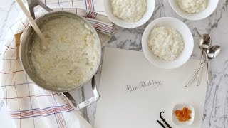 Vanilla Bean Rice Pudding - Martha Stewart
