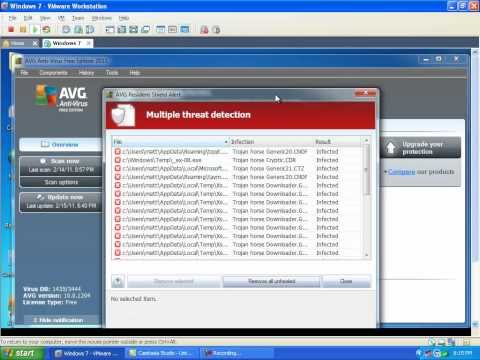 AVG Free 2011 Removal Test