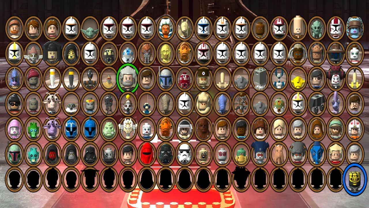 All lego star wars 3 characters