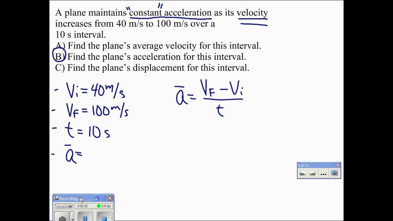 07 Average Acceleration