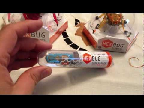HexBugs Nano. HexBugs Inchworm robot toy review