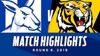 Match Highlights: North Melbourne v Richmond   Round 8, 2018   AFL