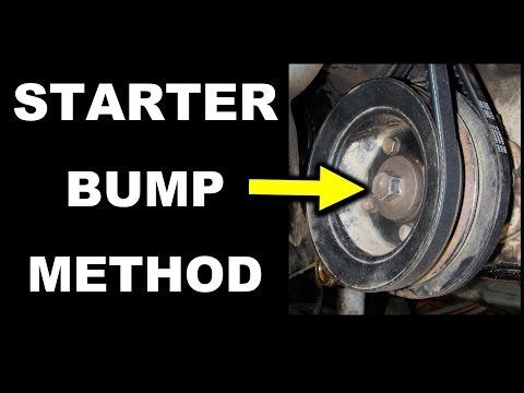 Starter Bump Method - Toyota Crankshaft Pulley Bolt Removal 22R Series Engine