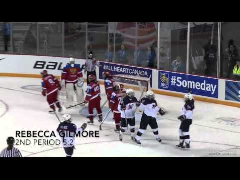 Highlights: USA vs Russia - 2016 IIHF Women's U18 World Championship