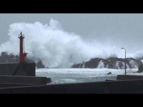 Typhoon Halong slams into Japan's western main island
