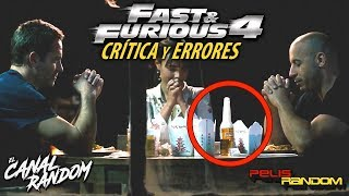 Errores de peliculas Fast and Furious 4 Rapidos y Furiosos a todo gas Critica y Review PQC