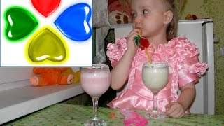 ❤БАНАНОВЫЙ И КЛУБНИЧНЫЙ КОКТЕЙЛЬ . BANANA AND STRAWBERRY SMOOTHIE COOKS MARINA. DE PLÁTANO Y FRESA