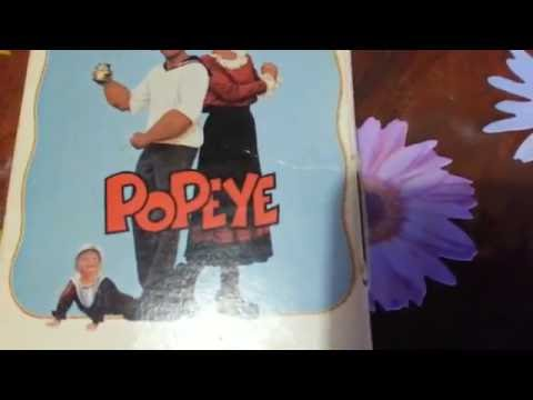 Robin Williams, Shelley Duvall Popeye VHS Unboxing (1981 First Release Edition)