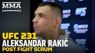 UFC 231: Aleksandar Rakic Addresses Controversial Officiating: 'Where Is The Referee?'