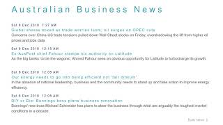 Business News Headlines for 8 Dec 2018 - 6 PM Edition