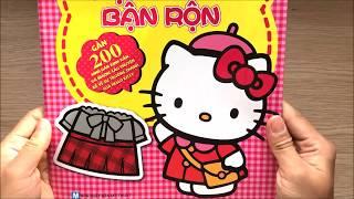 Đồ chơi DÁN HÌNH MÈO HELLO KITTY XINH & kể chuyện 1 ngày của Hello Kitty Toys for Kids (Chim Xinh)