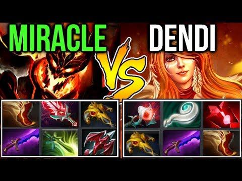 Miracle- vs Dendi - M-GOD vs Living Legend Midlane Battle Dota2 Allstar