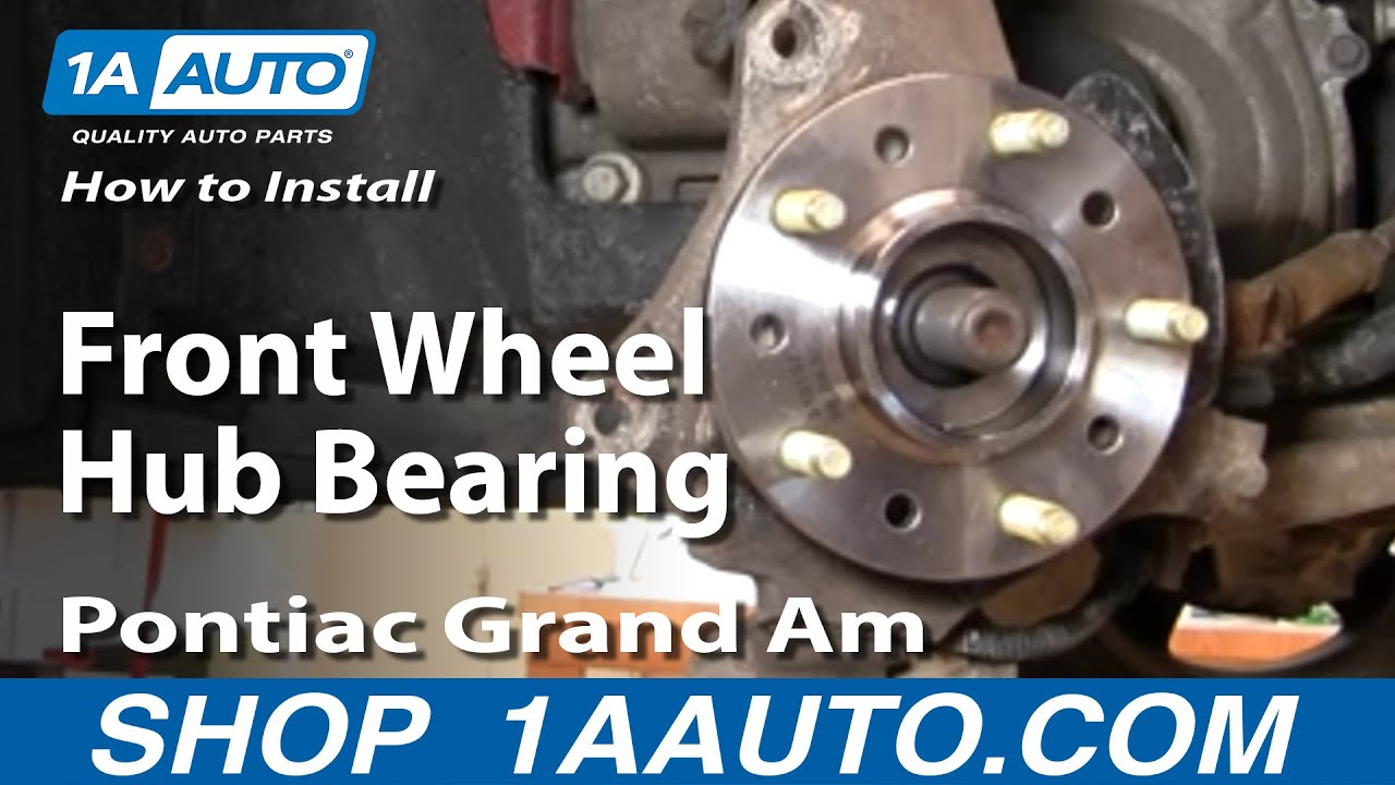 How To Install Replace Front Wheel Hub Bearing Gm Front