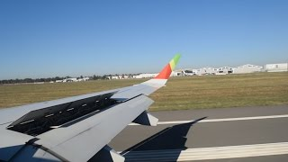 Approach + hard landing + taxi at LFBD Embraer 190 Tap Portugal