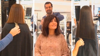 Extreme long hair cutting or amazing hair transformations by mouniiiir