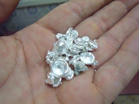 Como extraer PLATA de contactos electricos. Parte 3. Silver extracting.
