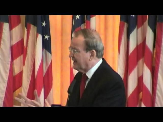 "Pat Buchanan talks ""State of Emergency"" at the Nixon Library"
