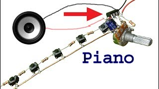 How to make Piano use ne555 timer ic, diy piano electronics project