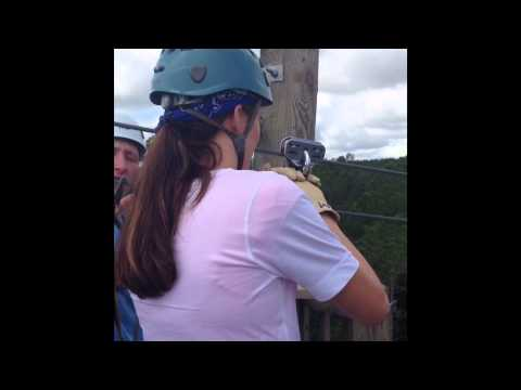 Ziplining At Adventures Unlimited, Milton, Florida
