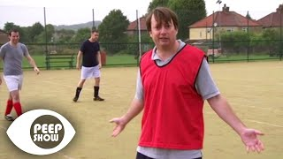 "Mark ""Tries"" To Play Football - Peep Show"