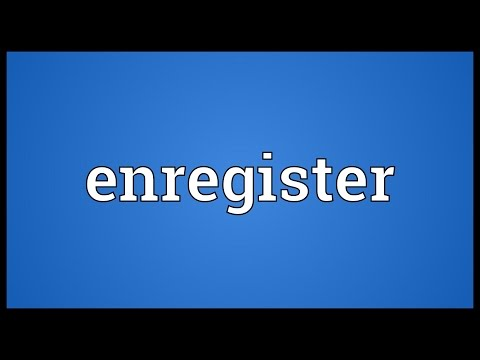 Header of enregister