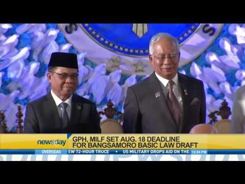 GPH, MILF set August 18 deadline for Bangsamoro Law Draft