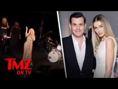 Christina Aguilera Performs At Star Studded Wedding | TMZ TV