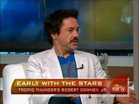 Robert Downey Jr. On 'Thunder' Video
