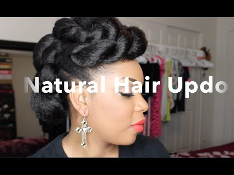 Natural Hair   Natural Hair Updo With Braiding Hair Tutorial