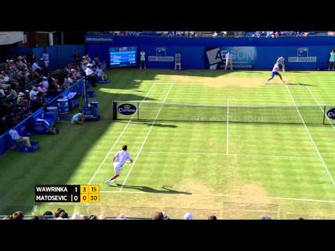 Stan Wawrinka vs, Marinko Matosevic - Aegon Championships Day 5 Match highlights